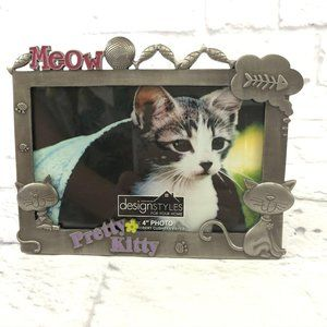 DesignStyles Pretty Kitty Embossed Picture Frame